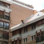 Impermeabilizado en  coronas de  terraza.